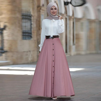 Flared A-line Maxi Skirt (Plus sizes available)