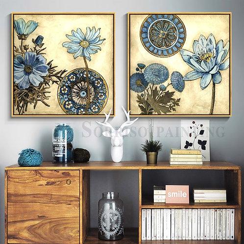 Blue Lotus Flowers Prints (framed or unframed)