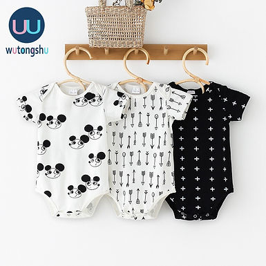 Baby Jumpsuits 0-24m White and Black