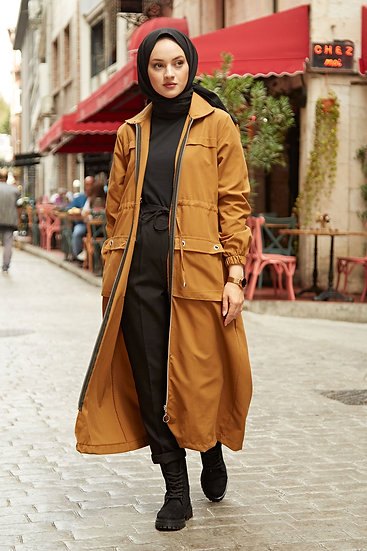 English Style Long Trench Coat