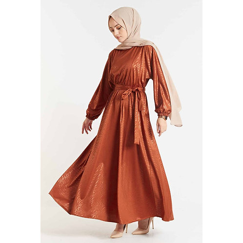 Leather Look Bat Sleeve Women's Maxi Dress