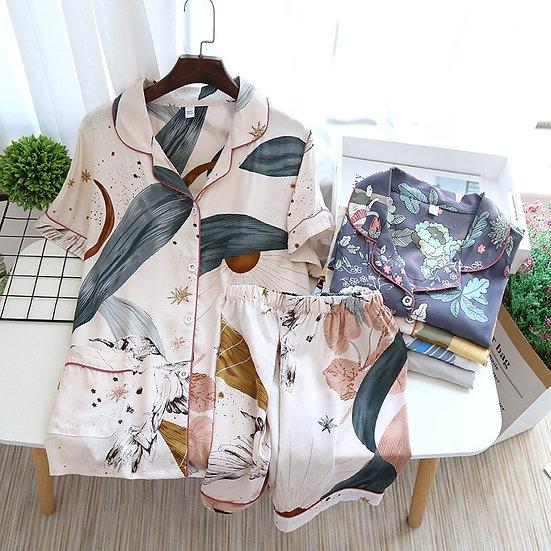 Short-Sleeved Shirt & Shorts Pyjamas