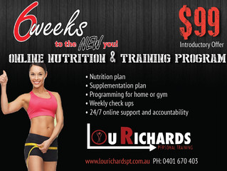 Online nutrition and training programs now available