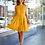 Thumbnail: High Neck Yellow Dress with Pockets