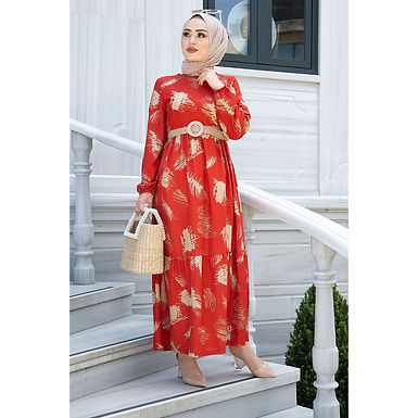 Belted Women's Maxi Dress