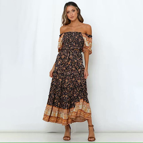 Floral Print Top and Skirt Set