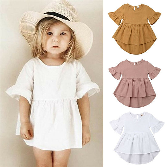 Ruffle Flare Sleeve Dress Sizes 1-5years