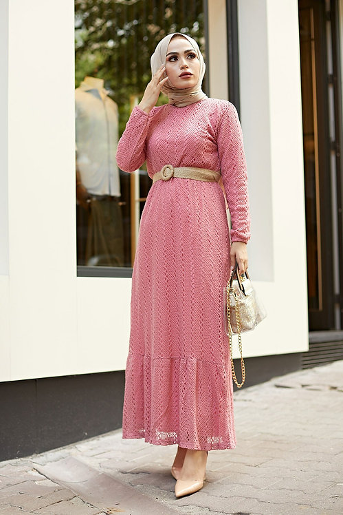 Knitted Lace Maxi Dress