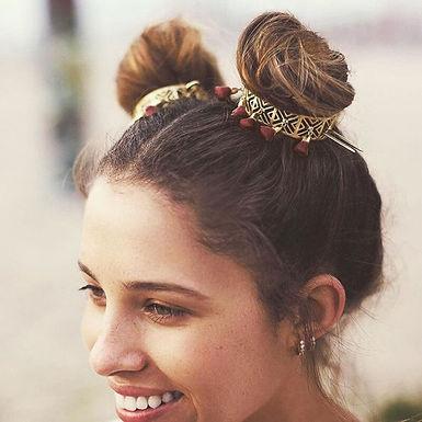 Boho Bun Golden Hair Pins