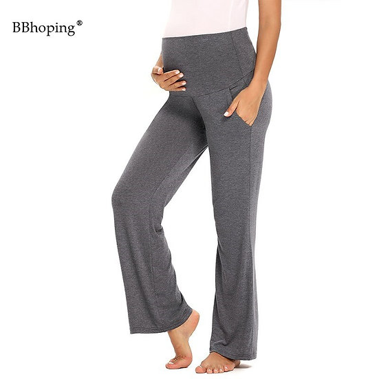 Maternity Palazzo Pants With Pockets