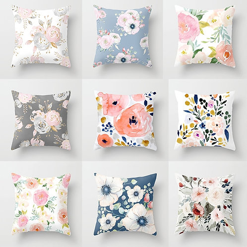 Watercolor Flower Cushion Covers