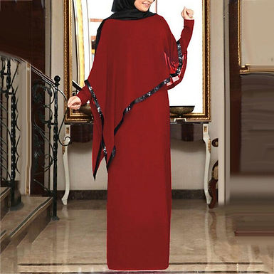 Attached Shawl Maxi Dress (plus sizes available)