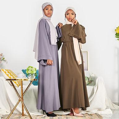 Flare Sleeve Loose Maxi Dress