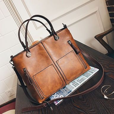 Double Pocket Vintage Handbag
