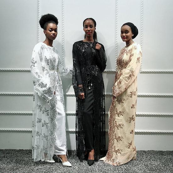 Mesh Sequin Kimono