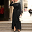 Thumbnail: Long Sleeve Asymmetrical Maxi Dress