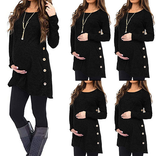 Maternity Long Sleeve Button Top