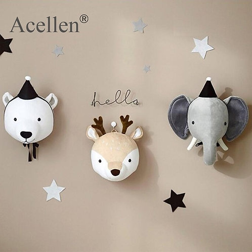 Kids Room Decoration 3D Animal Heads