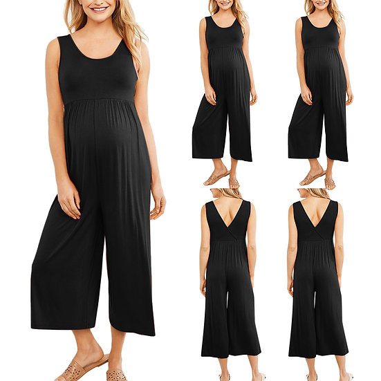 Maternity Black Jumpsuit