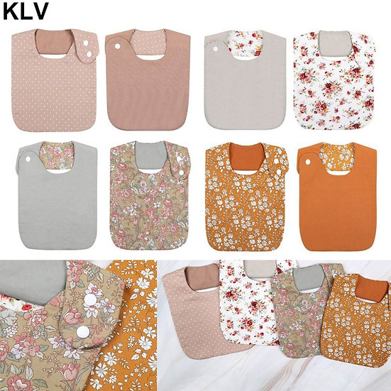 Floral Vintage Double Sided Bibs
