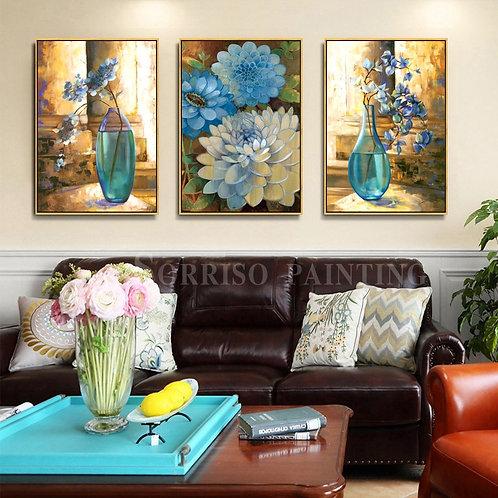 Abstract Flower Vase Wall Art  (framed or unframed)