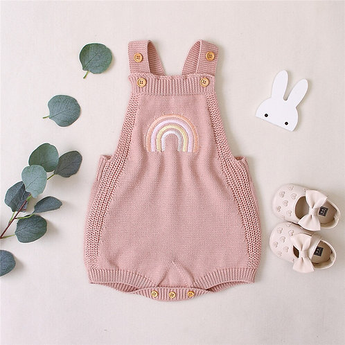 Knitted Embroidered Rainbow Romper Sizes 0-24 months