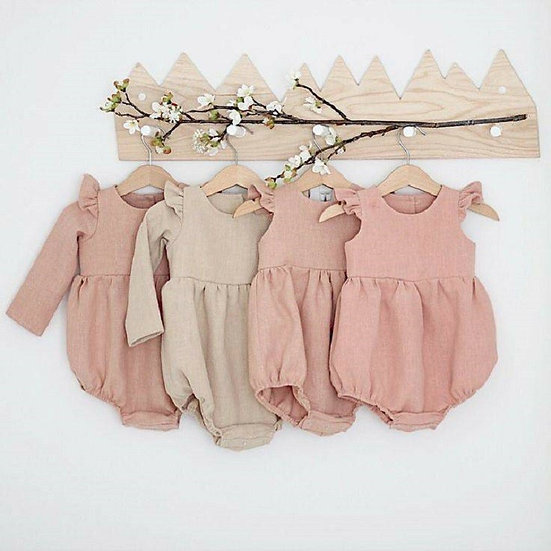 Baby Girl Linen Playsuits