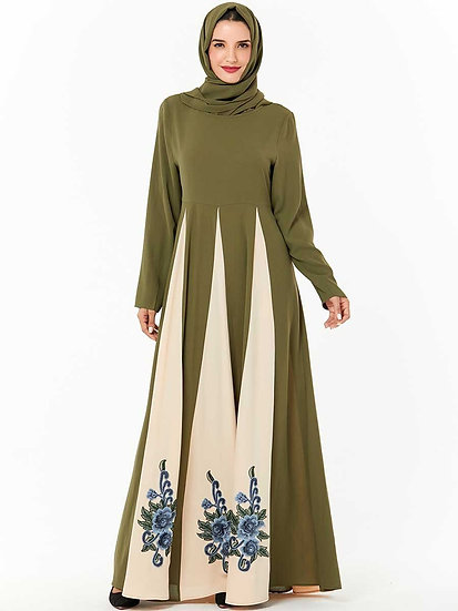 Embroidery Swing Maxi Dress