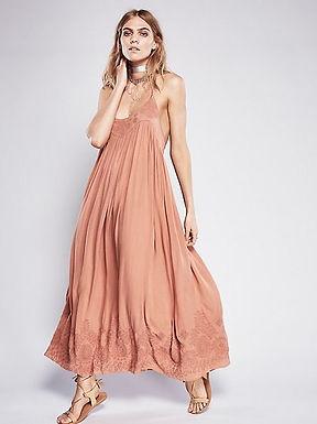 Bohemian Style Embroidered Long Maxi Dress