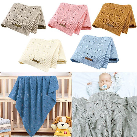 Knitted Newborn Soft Warm Swaddle Wrap