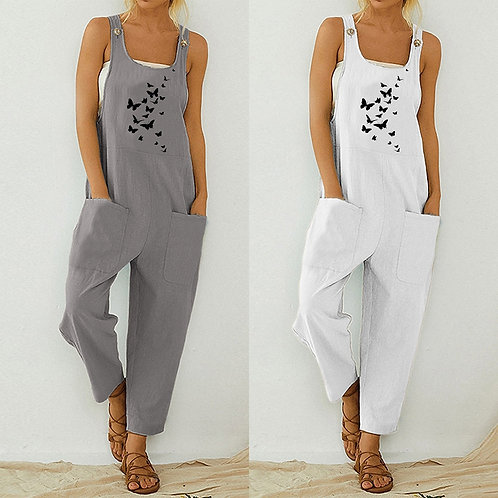 Butterfly Jumpsuit Overalls
