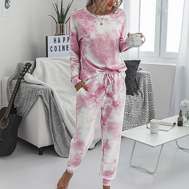 2 Piece Set Tie Dye LoungeWear