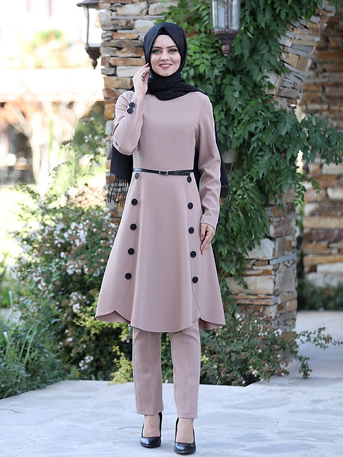 2 Piece Long Flared Tunic and Trousers