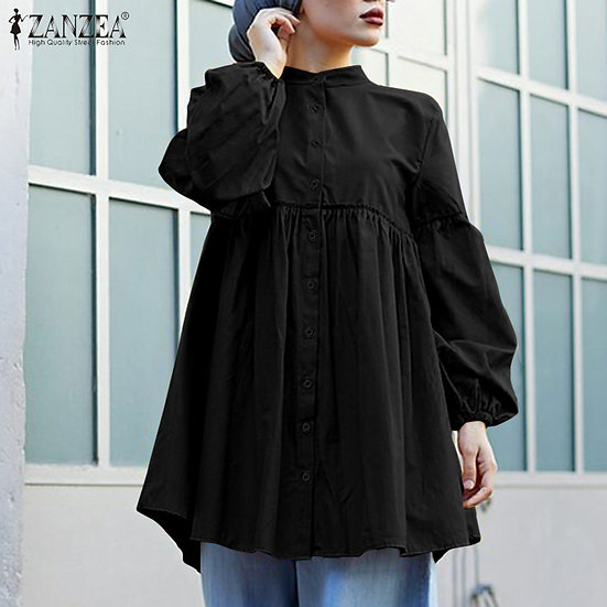 Long Sleeve Buttons Down Loose Shirt (Plus sizes available)