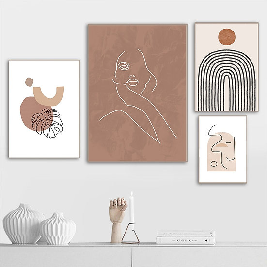 Abstract Line Painting Wall Art