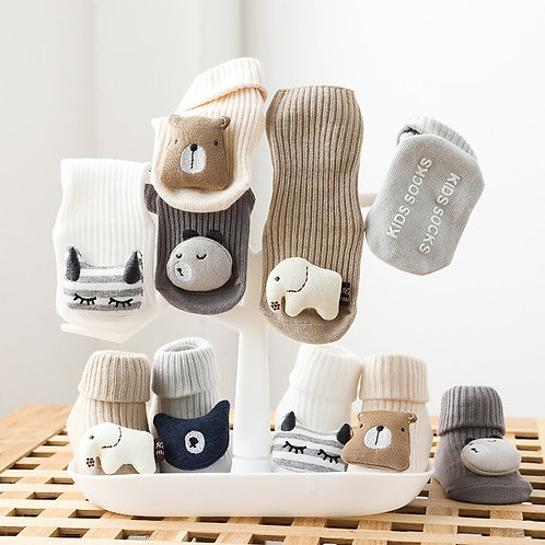Soft Cotton Baby Socks Anti Slip