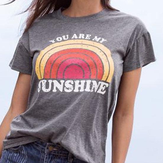 You Are My Sunshine Rainbow Tee