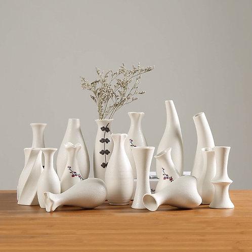 Modern White Ceramic Vases