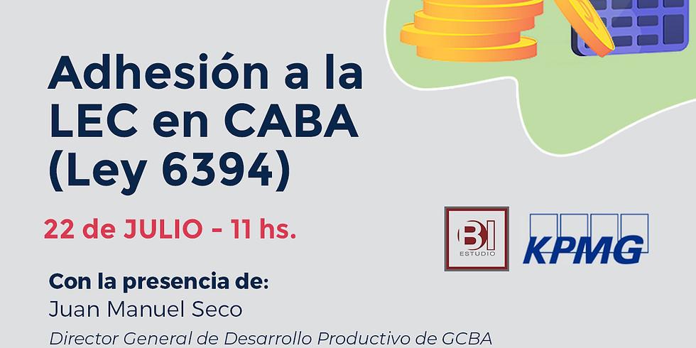 Webinar Adhesión a la LEC en CABA (Ley 6394)