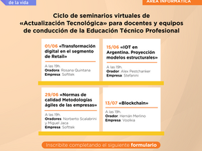Nuevo Cronograma Ciclo de Actualización Tecnológica a Docentes