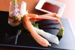 松葉蟹の刺身