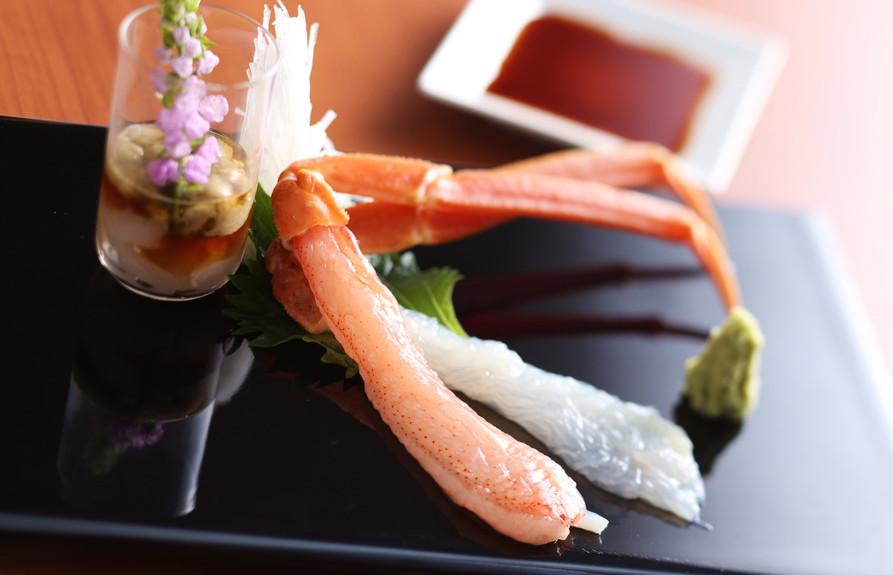 松葉蟹の刺身.JPG