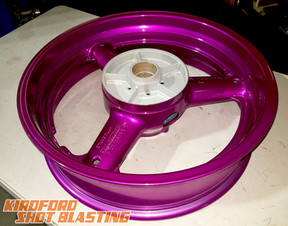 Candy Purple Motorbike Wheel