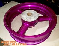 Candy Purple Motorbike Wheel