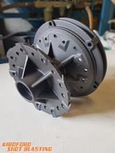Black wheel hub