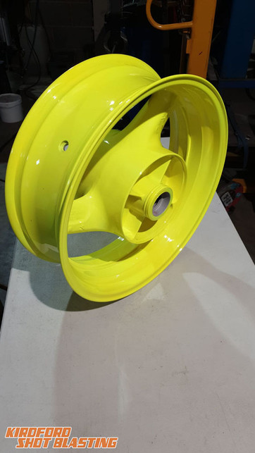 Motorbike Wheel in Chatreuse Yellow
