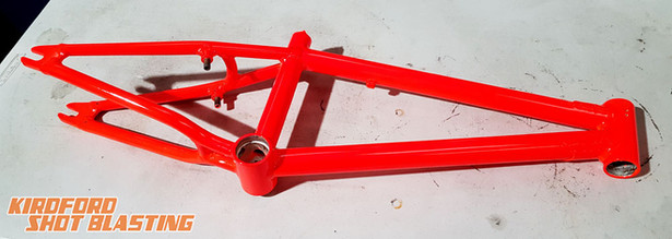 Flourescent Orange BMX frame