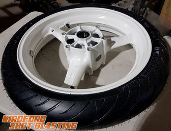 Motorcycle Wheel in Honda Championship White
