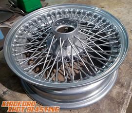 Chrome powder Coat Wire Wheel