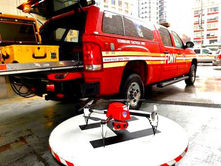 Premier drone anti-incendie à New-York
